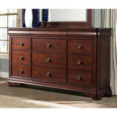 Corolla 9-Drawer Cherry Dresser