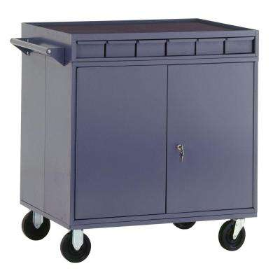 34 in. W x 24 in. D Double Access Mobile Work Center with Storage