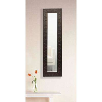 10.5 in. x 31.5 in. Espresso Bricks Vanity Mirror Single Panel