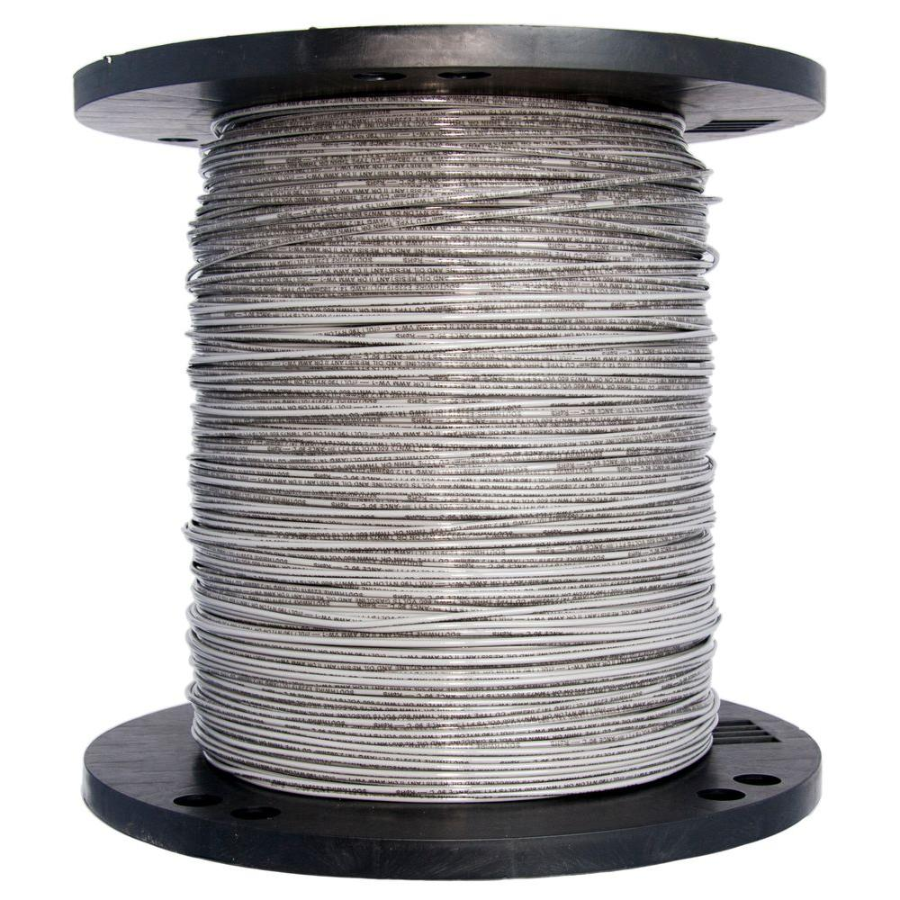 Southwire 2500 ft. 14 Gray Solid CU THHN Wire-21466805 - The Home Depot