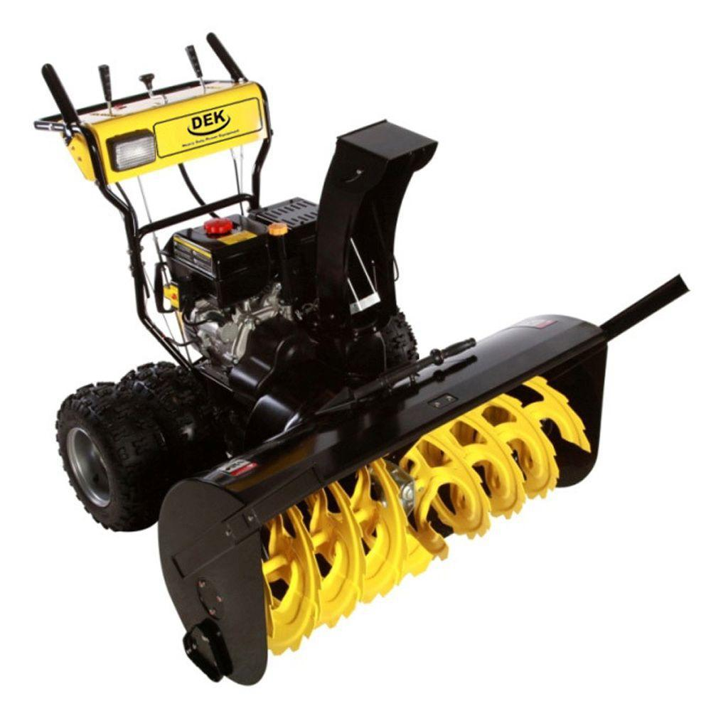 Best Electric Snow Blower For Heavy Snow : Dek in commercial cc electric start stage gas