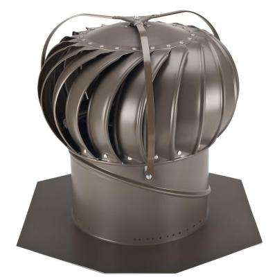 12 in. Weathered Bronze Aluminum Externally Braced Wind Turbine