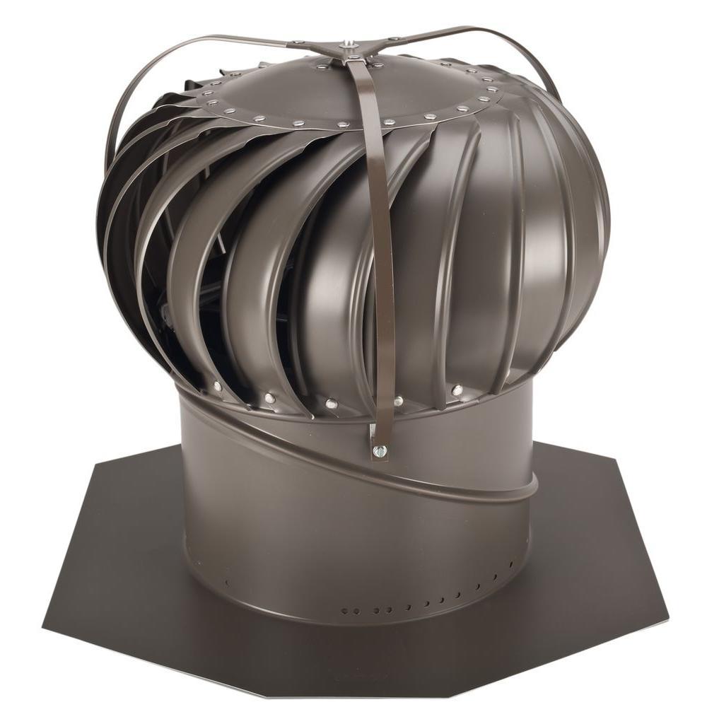 12 in. Weathered Bronze Aluminum Externally Braced Wind Turbine