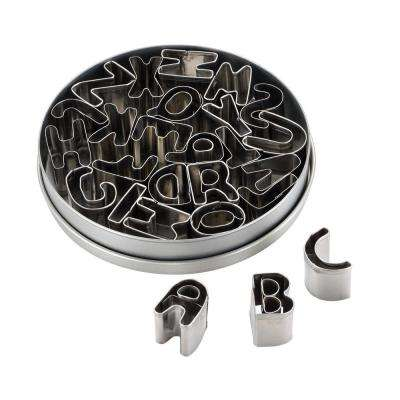 Decorating Tools 26-Piece Stainless Steel Alphabet Cookie Cutter Set
