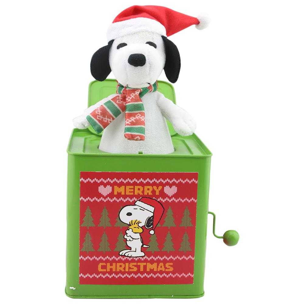 Peanuts 10.63 in. Jack in The Box-Snoopy with Scarf-112634 - The ...