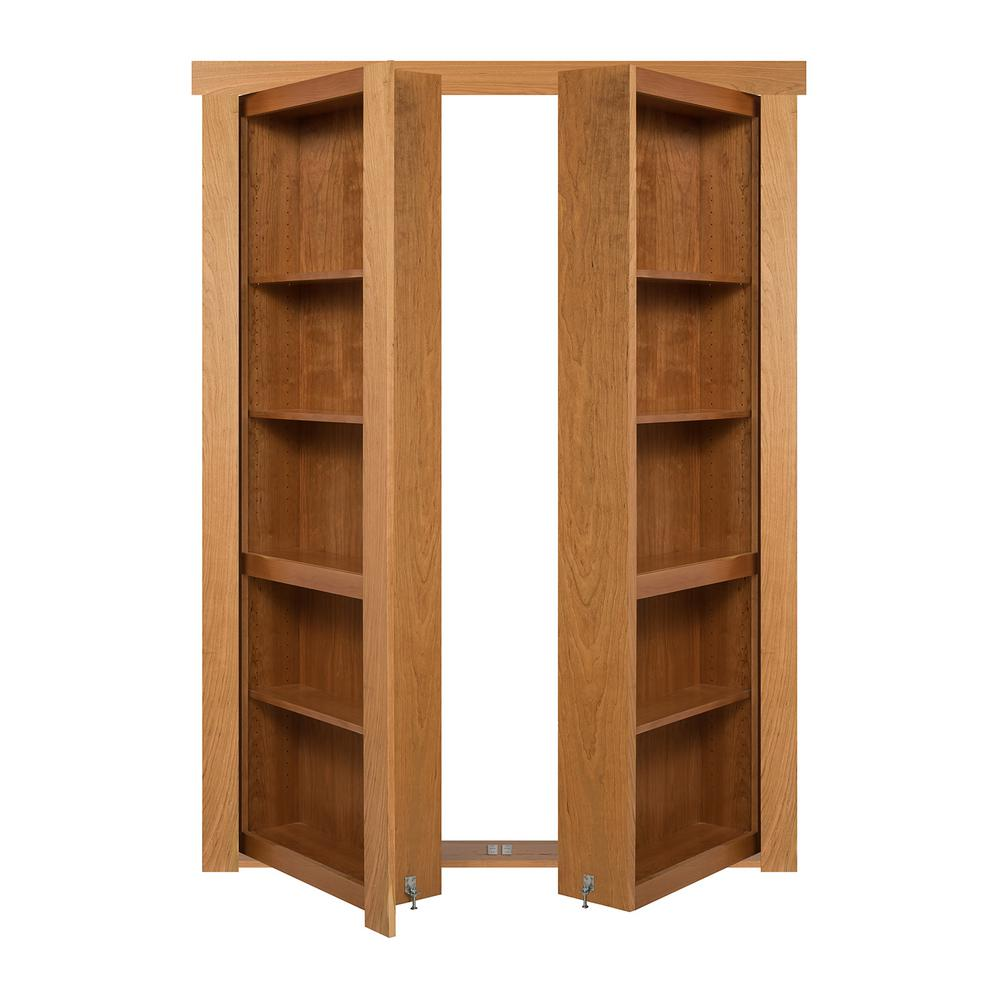 The Murphy Door 48 In X 80 In Flush Mount Assembled Cherry Natural Stained Universal Solid