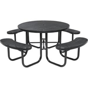 Tradewinds Park 46 inch Brown Commercial Round Picnic Table by Tradewinds