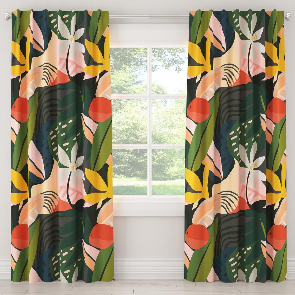 50 in. W x 63 in. L Unlined Curtains in Ibiza Multi