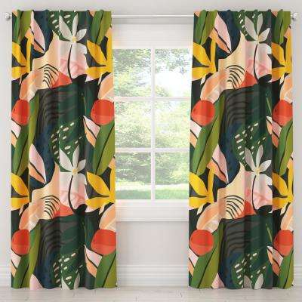 50 in. W x 108 in. L Unlined Curtains in Ibiza Multi