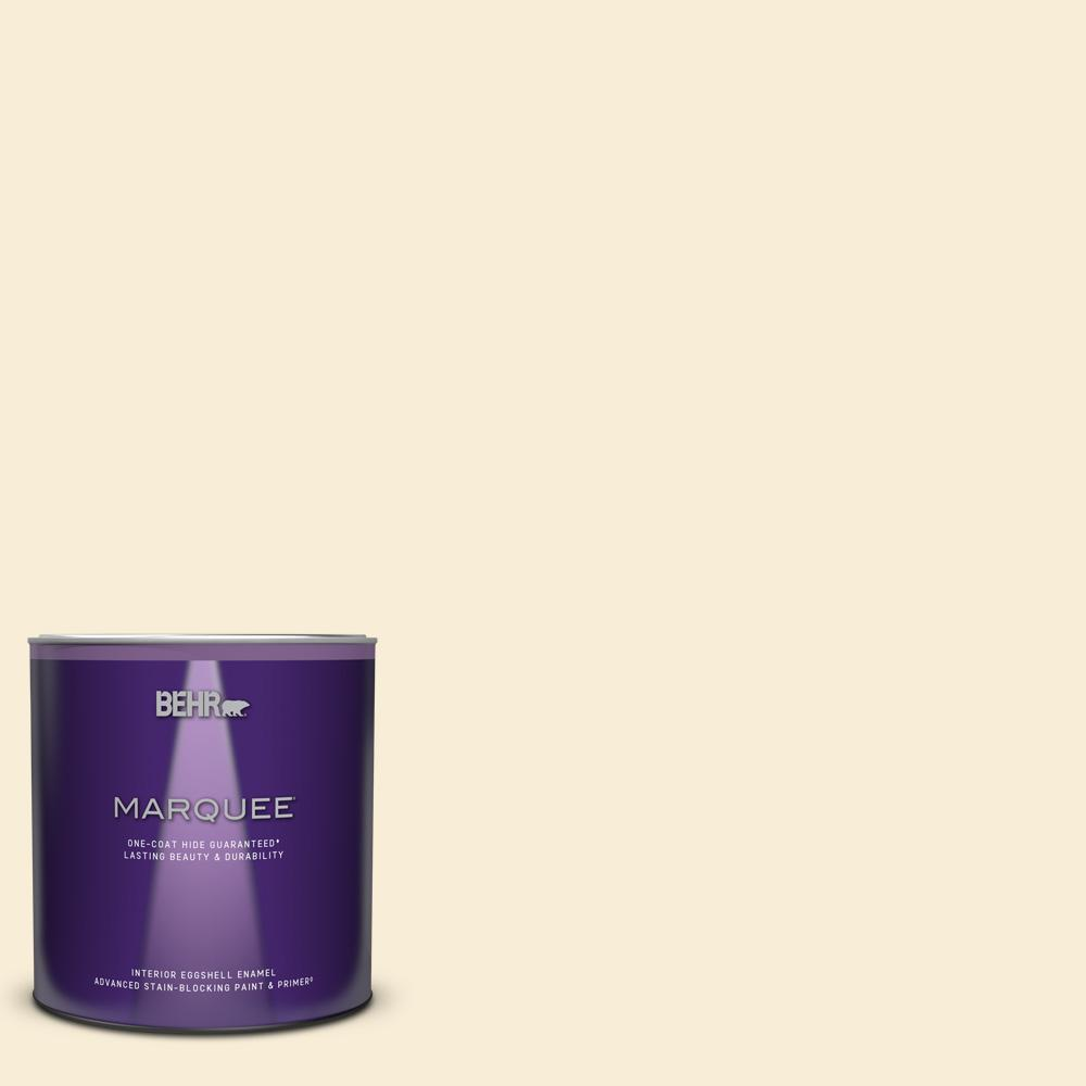 Behr Marquee 1 Qt Ppu6 09 Polished Pearl Eggshell Enamel Interior Paint And Primer In One 245004 The Home Depot