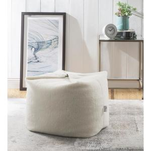Astonishing Loungie Magic Sherpa Pouf Cream White Bean Bag Chair Squirreltailoven Fun Painted Chair Ideas Images Squirreltailovenorg