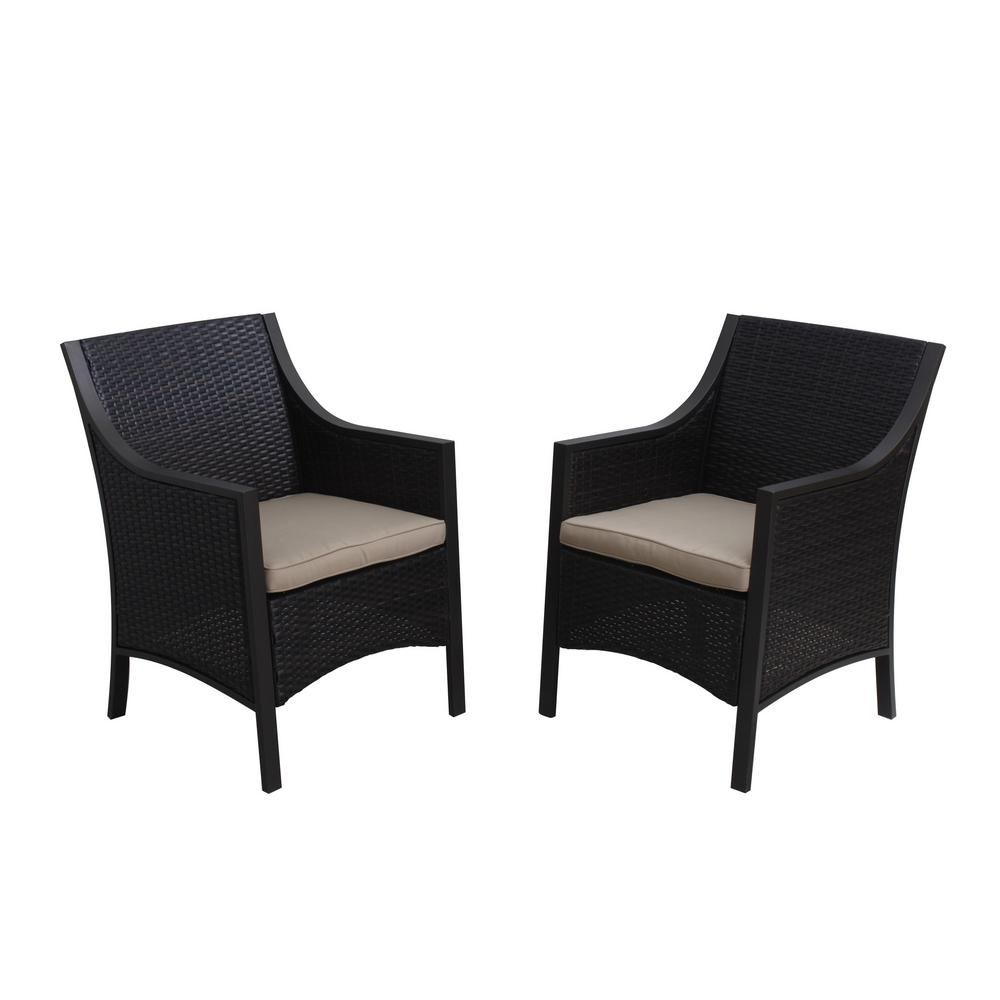 Noble House Reid MultiBrown Wicker Outdoor Dining Chair ...