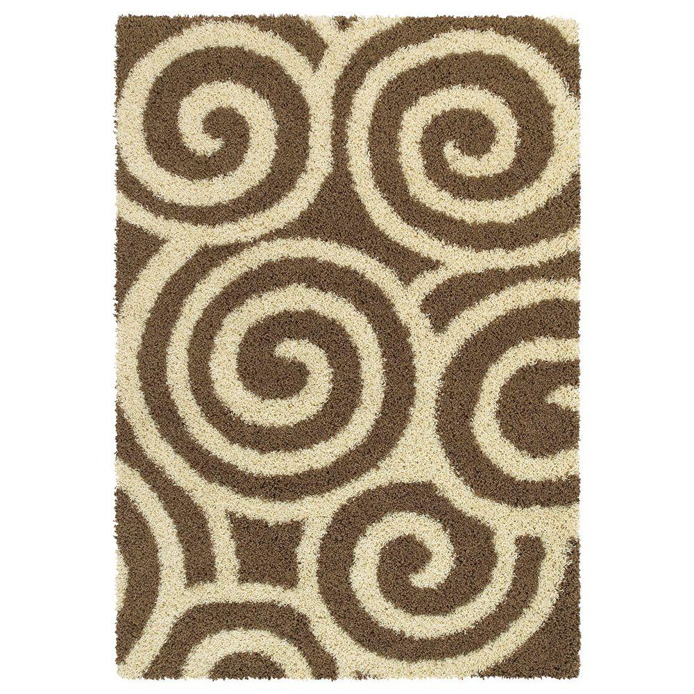 United Weavers Overstock Daltrey Taupe 7 ft. 10 in. x 10 ft. 6 in. Contemporary Area Rug