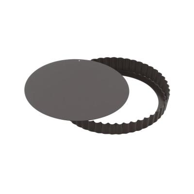 12-1/2 in. x 1 in. Non-Stick Fluted Tart Pan with Removable Base