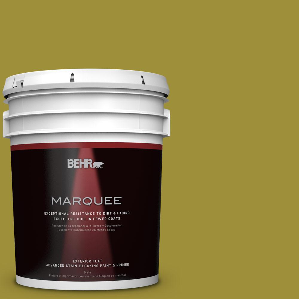 BEHR MARQUEE Home Decorators Collection 5-gal. #HDC-MD-20 Banana Leaf Flat Exterior Paint