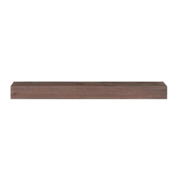 The Carolina 6 ft. Trail Finish Cap-Shelf Mantel