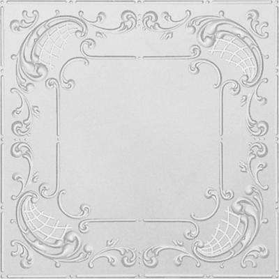 2 ft. x 4 ft. Nail-up/Direct Application Tin Ceiling Tile in Powder-Coated White (24 sq. ft. / case)