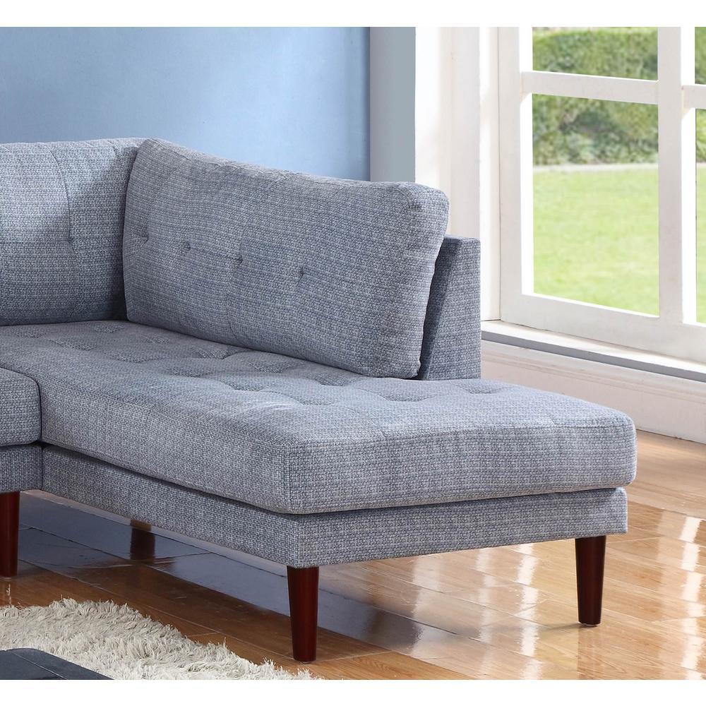 Star Home Living Gray Flint Linen Sectional Sofa Set (2 ...