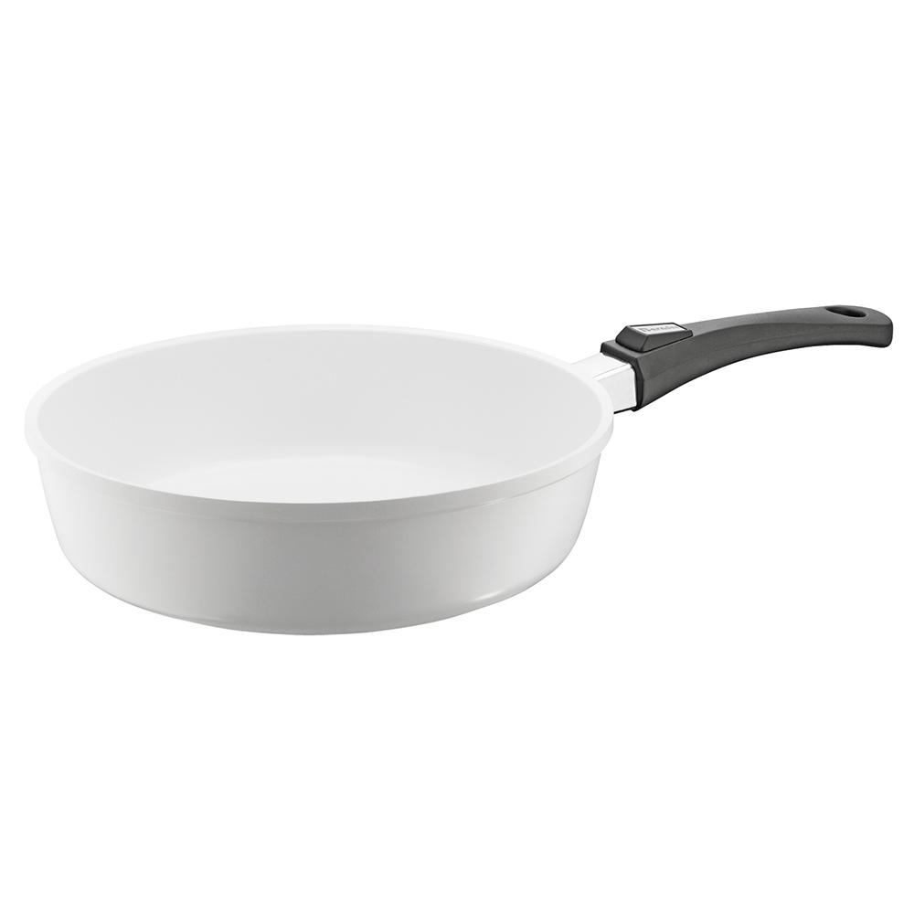 Berndes Vario Click Pearl 13 in. /6 Qt. Induction Round Saute Pan without Lid White