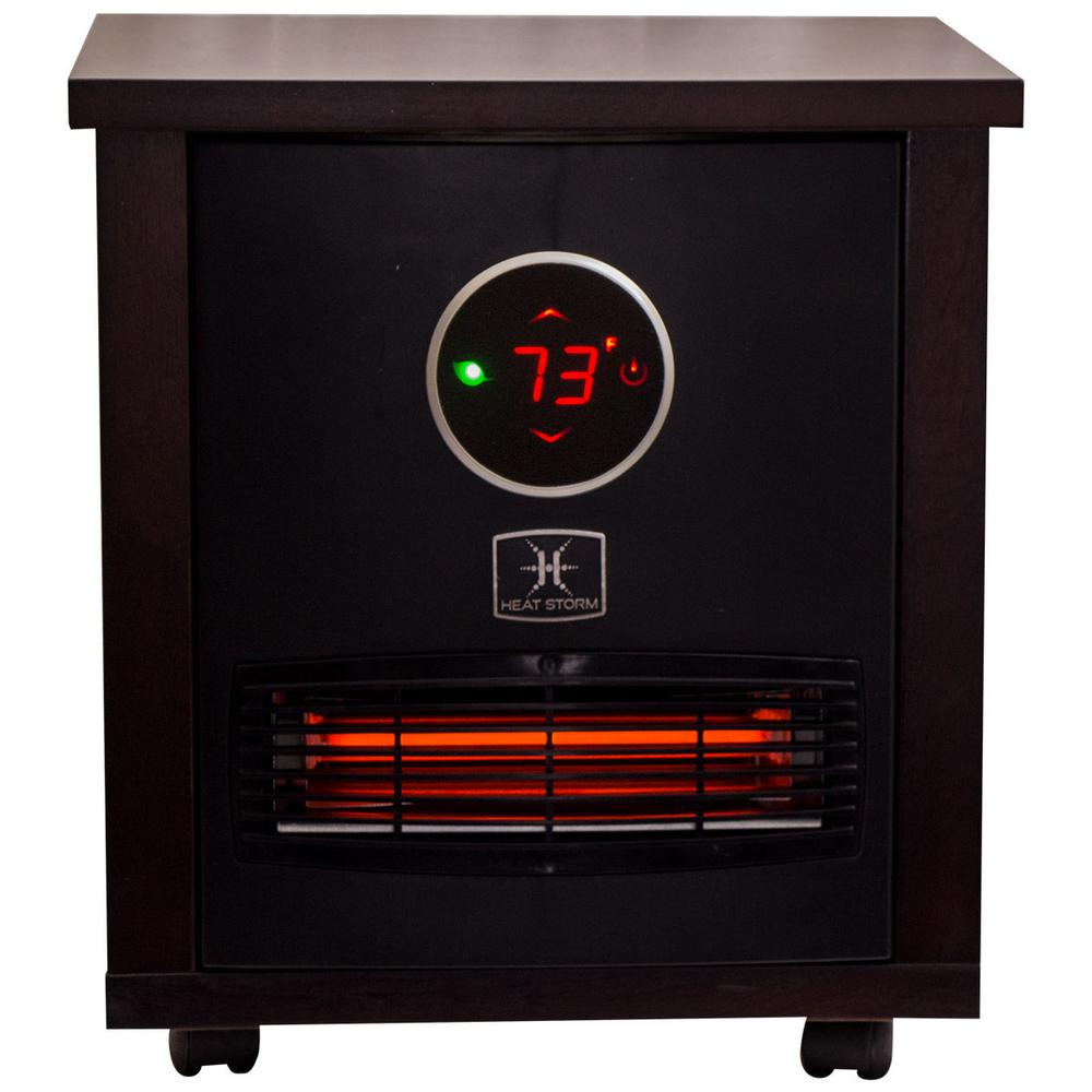 Heat Storm Logan Classic 1,500-Watt Infrared Quartz Portable Heater with Built-In Thermostat and Over Heat Sensor