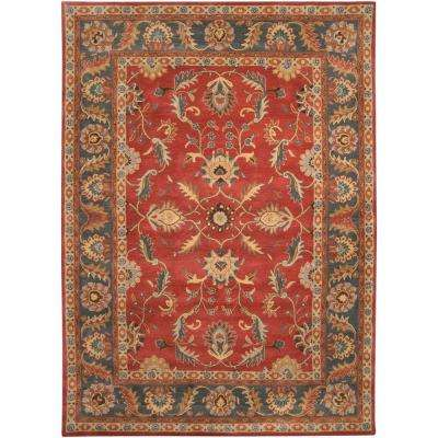John Rust Red 8 ft. x 11 ft. Area Rug