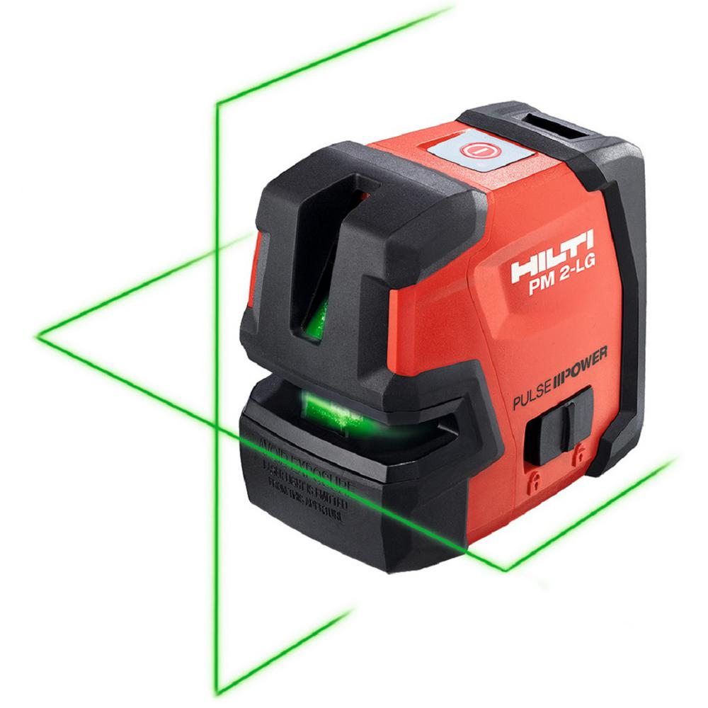 Hilti 66 ft. PM 2-LG Green Beam Line Laser Level with (2) AA Batteries
