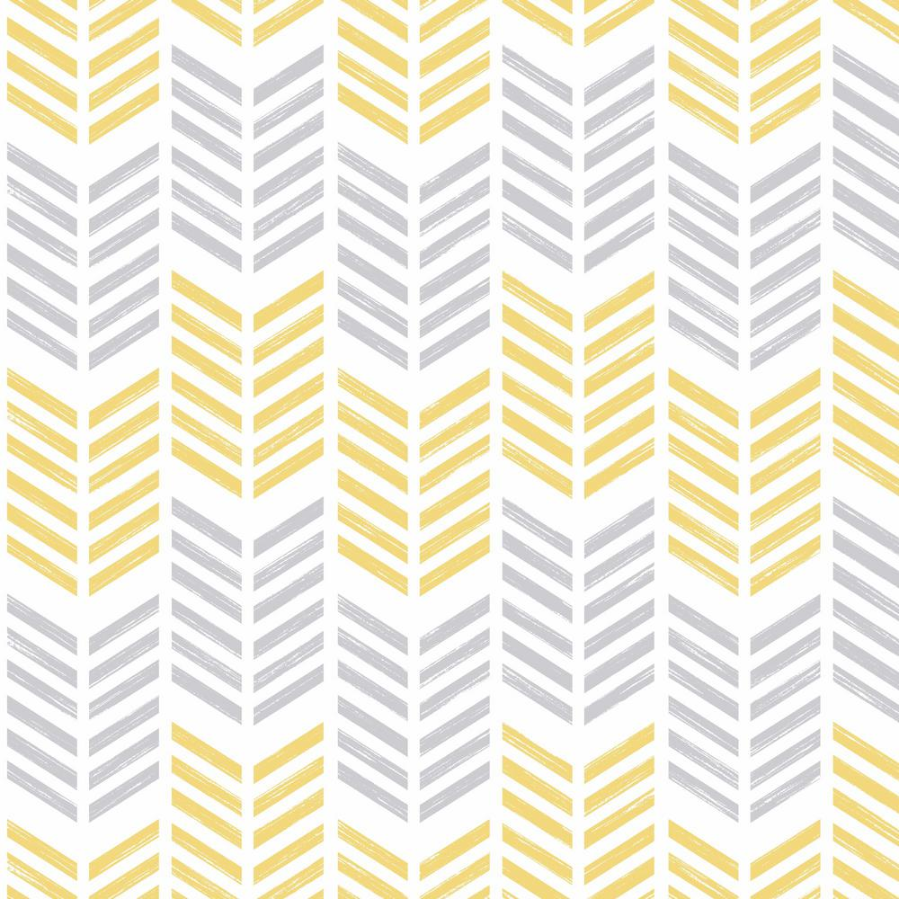 Graham & Brown Symmetry Oiti Yellow Removable Wallpaper-100287 - The ...
