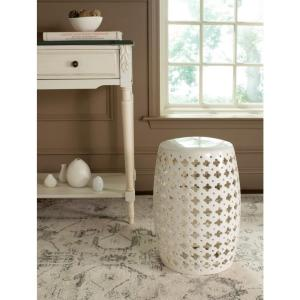 Safavieh Lacey Cream Patio Stool Acs4531b The Home Depot