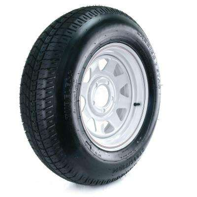 205/75D-14 Load Range C 5-Hole Custom Spoke Trailer Tire and Wheel Assembly