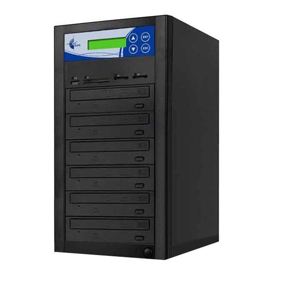 5 Copy Duplicator for Copies CD, DVD, USB, SD, CF, MS, MMC cards to CD/DVD - Black