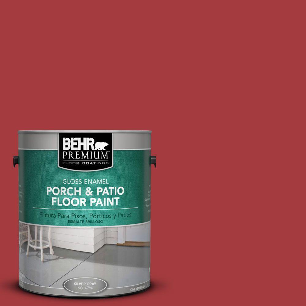 1 gal. #PFC-02 Brick Red Gloss Interior/Exterior Porch and Patio Floor