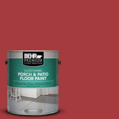 1 gal. #PFC-02 Brick Red Gloss Interior/Exterior Porch and Patio Floor Paint