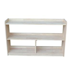 30 in. Unfinished Wood 4-shelf Unfinished Accent Bookcase