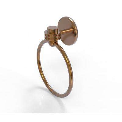 Satellite Orbit One Collection Towel Ring with Dotted Accent in Brushed Bronze