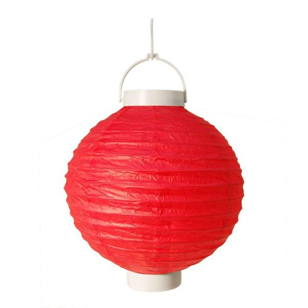 Lumabase Battery Operated Paper Lantern in Red (3-Count)
