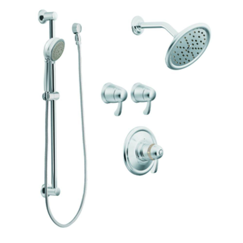 MOEN ExactTemp Vertical Spa in Chrome (Valve Not Included)-DISCONTINUED