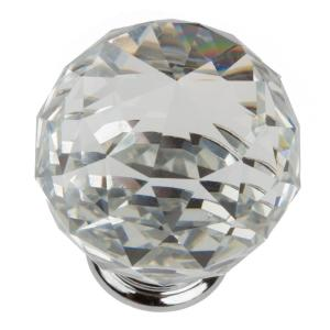 Pack of 25 KINGSMAN CY105-25 1-3//8-inch Clear K9 Crystal Diamond Shape Cabinet Knobs