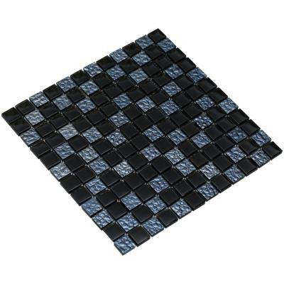 Bella/01, Midnight Blue, 4 in. x 4 in. x 8 mm Glass Mesh-Mounted Mosaic Tile Sample
