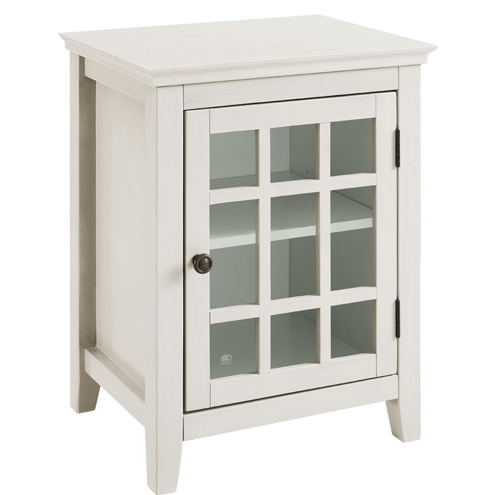 Linon Home Decor Largo Antique White Storage End Table