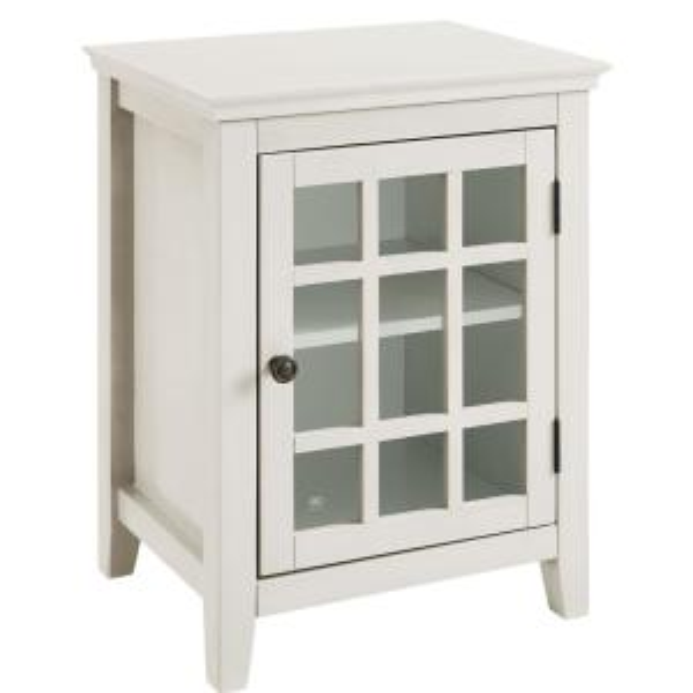 Linon Home Decor Largo Antique White Storage End Table by Linon Home Decor