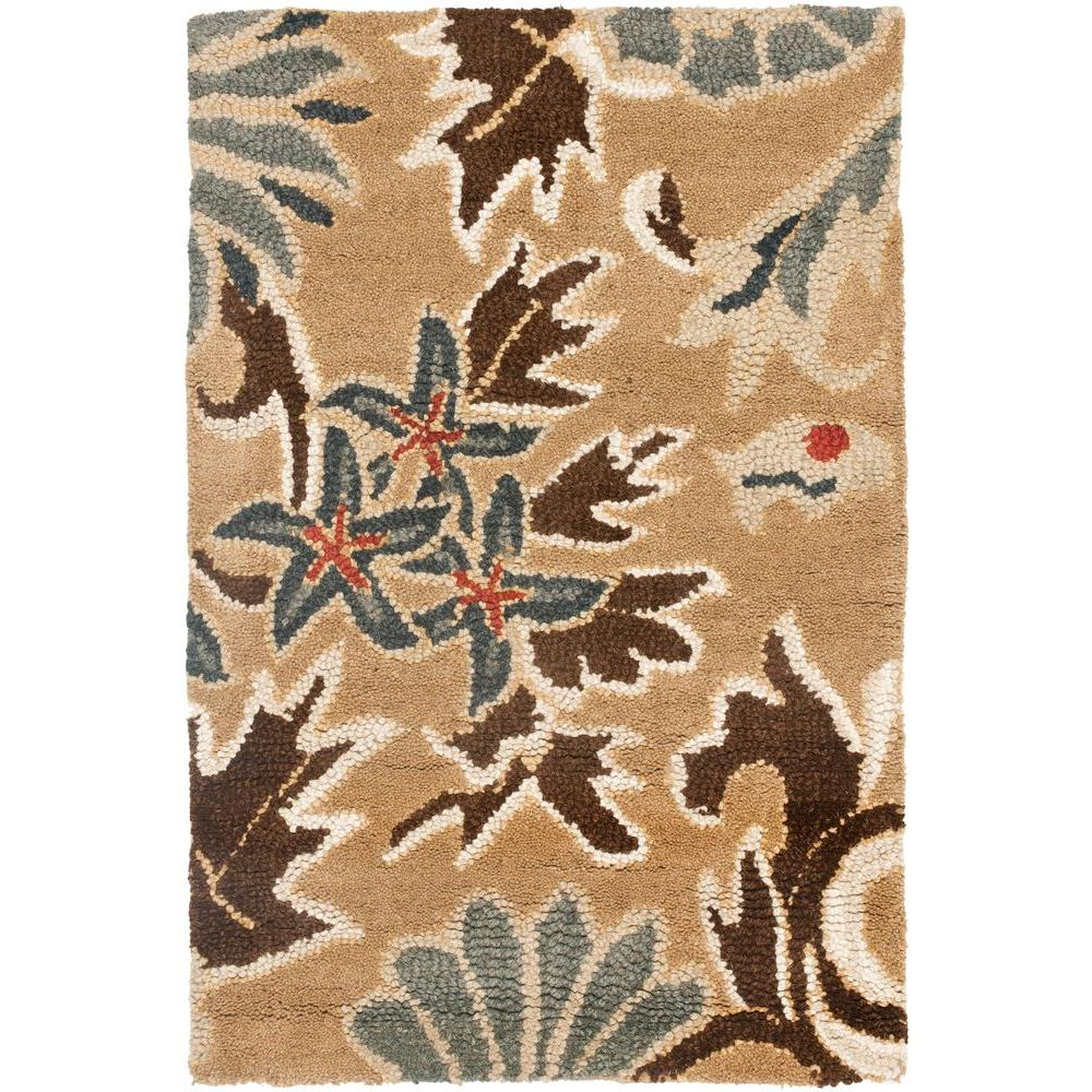 Safavieh Blossom Beige/Multi 3 ft. x 5 ft. Area Rug