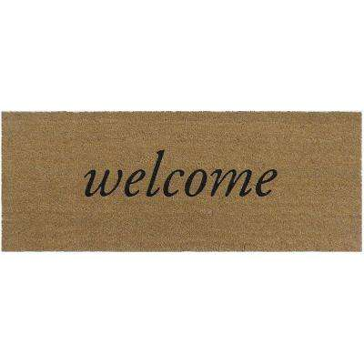 Welcome 47 in. x 18 in. Slip Resistant Coir Door Mat