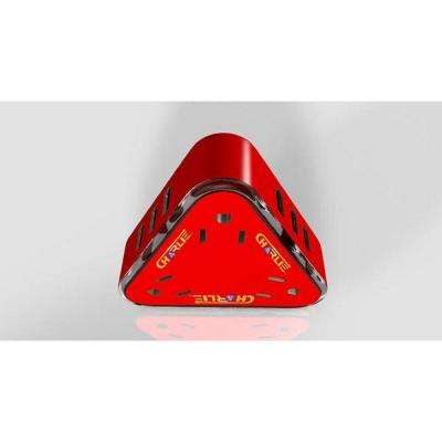 3-Outlet Super USB Charger Red with 9-USB Ports and LED Night Light