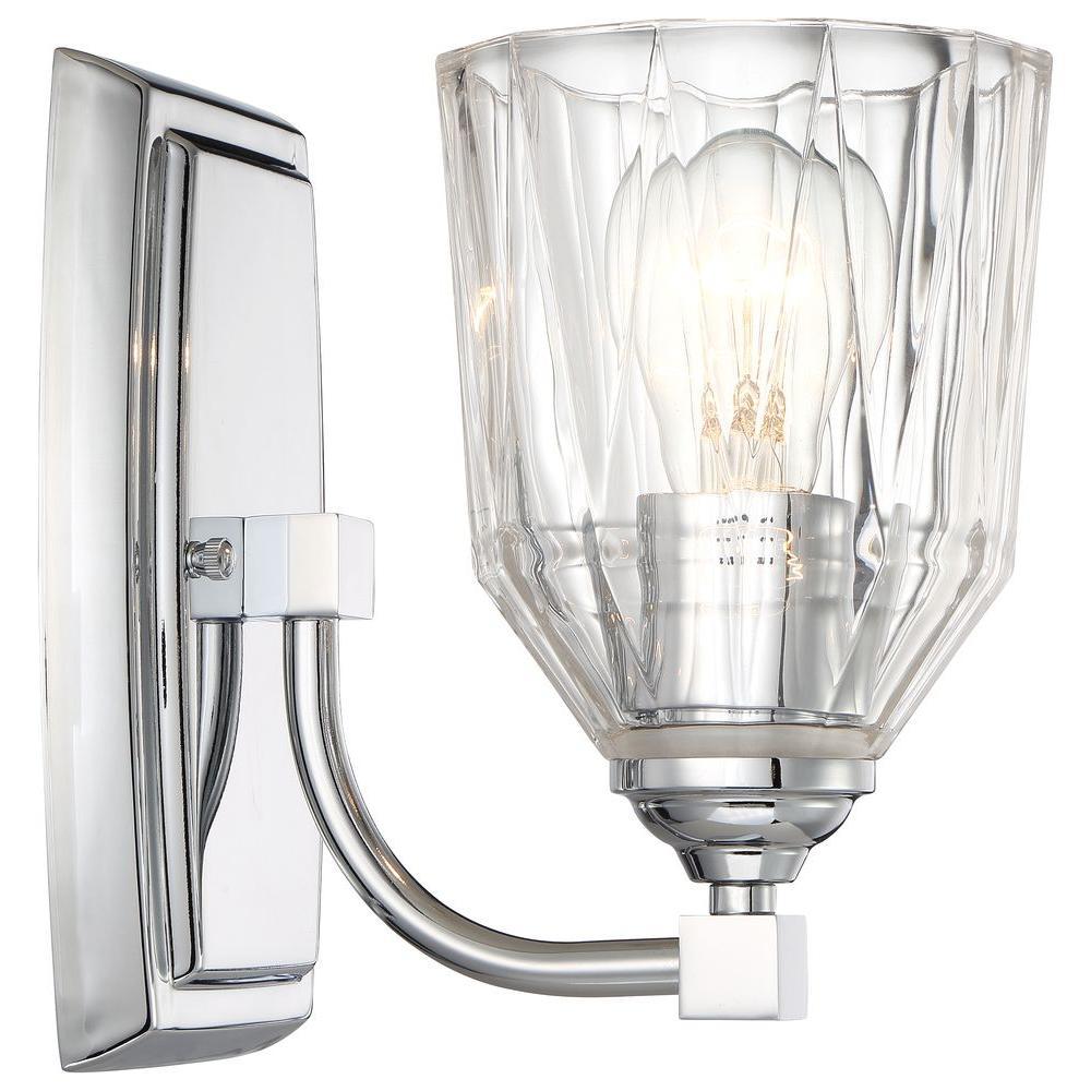 Minka lavery vanity lighting lighting the home depot dor 1 light chrome bath light arubaitofo Gallery