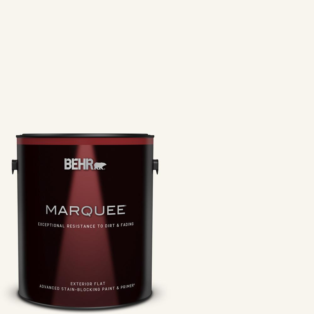 Behr Marquee 1 Gal Home Decorators Collection Hdc Wr16 01 Snow Day Flat Exterior Paint Primer 445001 The Home Depot