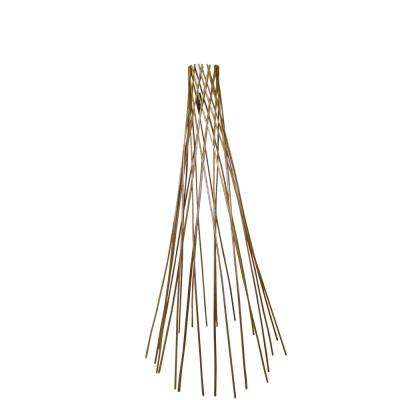72 in. H Classic Peeled Willow Round Teepee Trellis