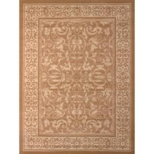 United Weavers Baroness Beige 5 ft. x 7 ft. Indoor Area Rug