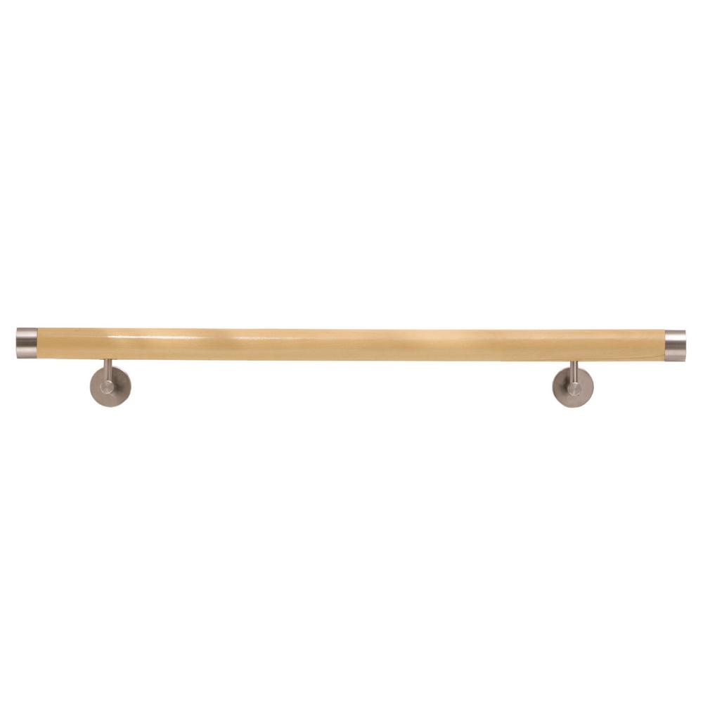 Wood Inox 6 ft. 7 in. Unfinished Wood Hand Rail Kit