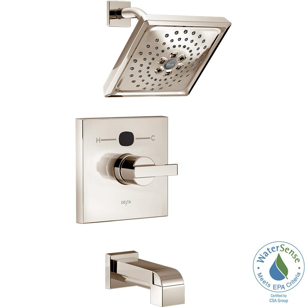 Temp2O Angular Modern Single-Handle Tub and Shower Faucet Trim Kit in