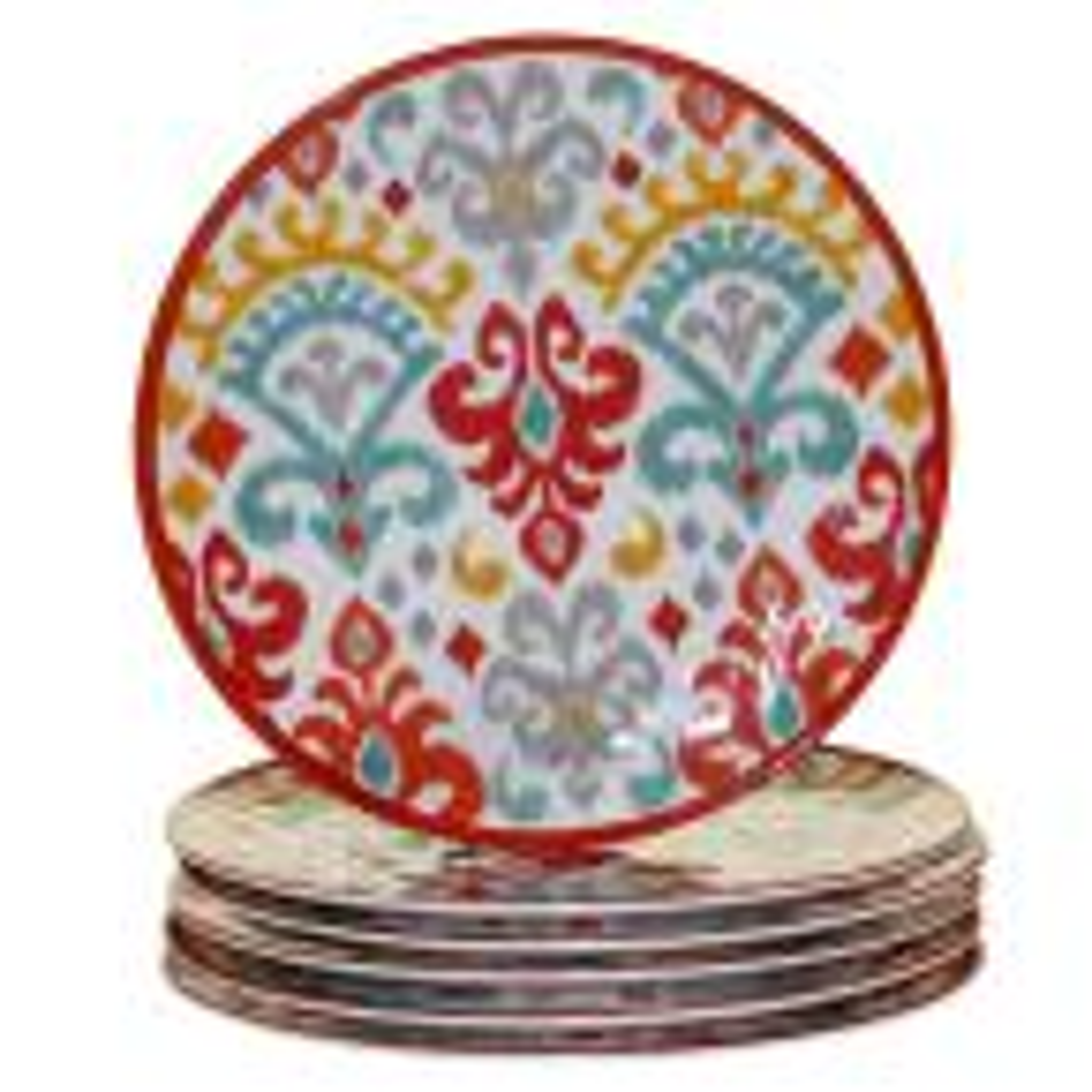 Bali 6-Piece Multi-Colored 11 in. Dinner Plate Set
